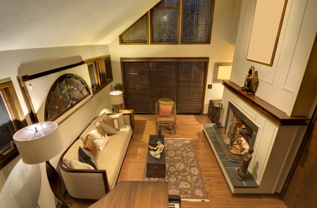 residential home: Interior of a residential living room Editorial