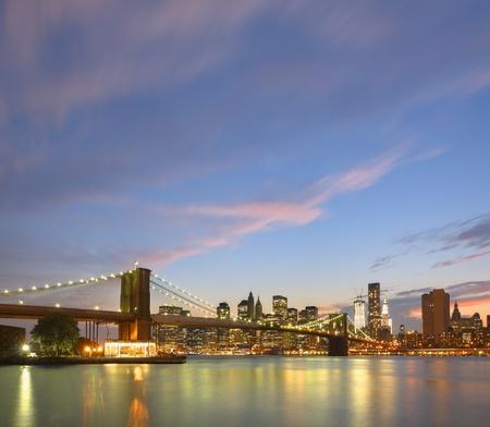 Skyline of Downtown Manhattan in New York City. Stock Photo - 11890509