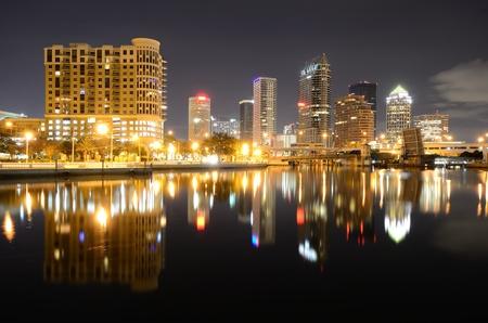 Downtown Tampa, Florida along the Hillsborough River.