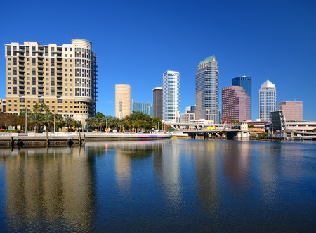 bay: skyline of downtown Tampa, Florida