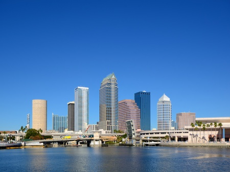 tampa bay: skyline of downtown Tampa, Florida