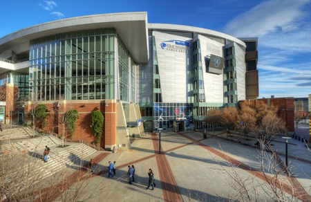 CHARLOTTE - DECEMBER 23: Time Warner Arena is home to the Charlotte Bobcats of the NBA. The indoor video screens measure 16 feet by 28 feet, making them the largest of any indoor arena.