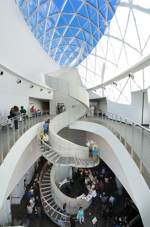 st  pete: ST. PETE, FLORIDA - DECEMBER 29: Interior of Salvador Dali Museum December 29, 2011 in St. Pete, FL. The museum houses the largest collection of Dali works outside of Europe. Editorial