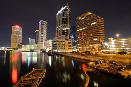floridian: skyline of downtown Tampa, Florida