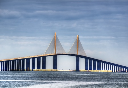 Sunshine Skyway in St. Petersburg, Florida Editorial
