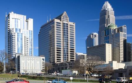 uptown: Buildings in Uptown Charlotte, North Carolina.
