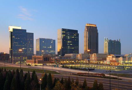 atlantic city: Skyline of Atlanta, Georgia at Atlantic Station.