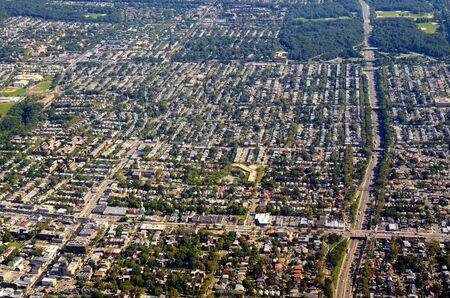 aerial view of neighborhoods