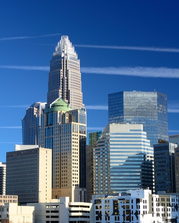 famous places: Skyline of Uptown Charlotte, North Carolina Editorial