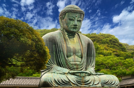 kamakura: The Great Buddha (Daibutsu) on the grounds of Kotokuin Temple in Kamakura, Japan.
