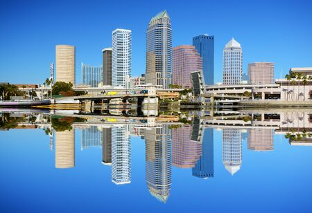 Skyline of downtown Tampa, Florida Editorial