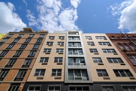 lower east side: Los edificios modernos de apartamentos en el Lower East Side de Manhattan.