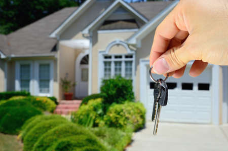 Keys to a new house Stock Photo - 12200936
