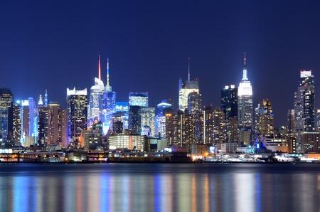 midtown manhattan: View of the spectacular Manhattan Skyline