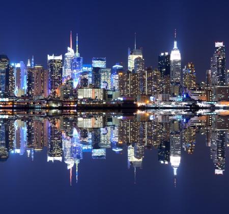 Vista de la espectacular horizonte de Manhattan Editorial