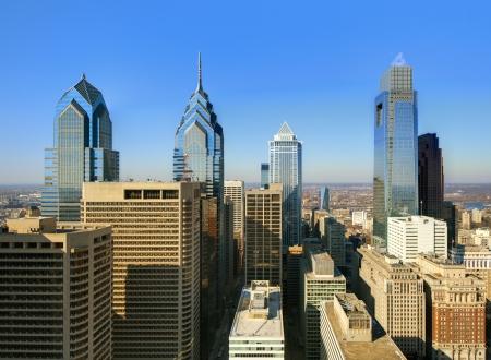 필라델피아: 시내 필라델피아, 펜실베이니아의 스카이 라인