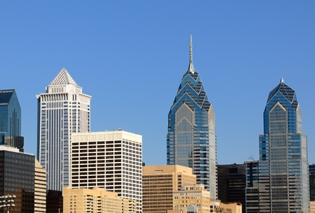 high rises: High rises in Philadelphia Stock Photo