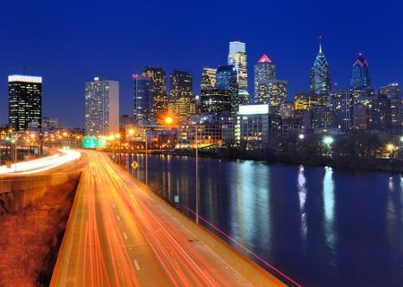philadelphia: Skyline of downtown Philadelphia, Pennsylvania  Stock Photo