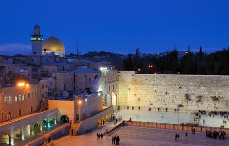 The Western Wall, also known at the Wailing Wall or Kote, is the remnant of the ancient wall that surrounded the Jewish Temple