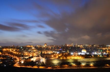 Skyline of the Old City of Jerusalem, Israel  Banco de Imagens