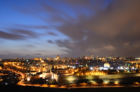 israeli: Skyline of the Old City of Jerusalem, Israel  Stock Photo