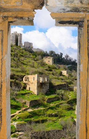 Lifta, a Jerusalem village which was abandoned by the Palestinians during the Israeli War of Independence Imagens - 12428292