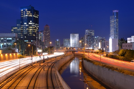 Skyline of Ramat Gan, the Financial District near Tel Aviv, Isreal  photo