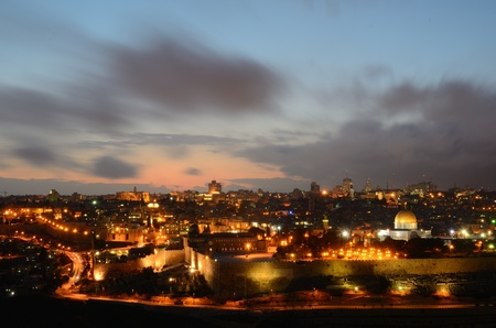Skyline of the Old City of Jerusalem, Israel. Imagens - 12724394