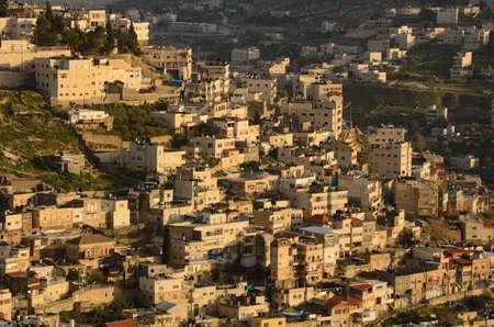 mount of olives: Arab village on the slope of Mount of Olives in Jerusalem, Israel
