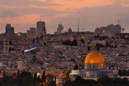 Skyline of the Old City of Jerusalem, Israel  Imagens