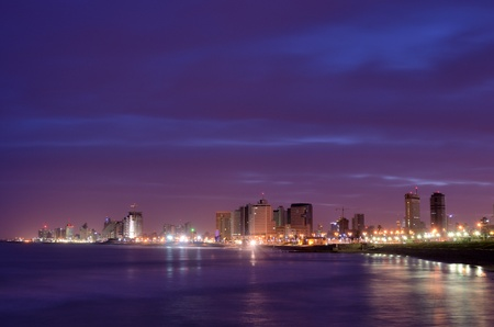 israeli: Skyline of Tel Aviv, Israel. Stock Photo