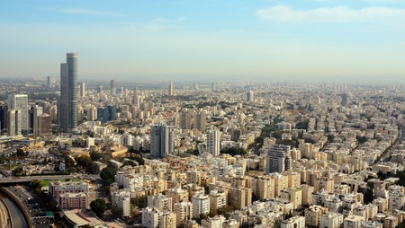 israeli: Aerial view of the City of Tel Aviv, Israel