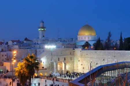 The Western Wall, also known at the Wailing Wall, is the remnant of the ancient wall that surrounded the Jewish Temples courtyard in jerusalem, Israel. Dome of the Rock is a Muslim Shrine located on the Temple Mount. Editorial