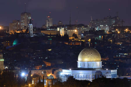 Skyline of the old city of Jerusalem, Israel.
