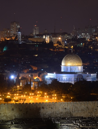 Skyline of the old city of Jerusalem, Israel. photo