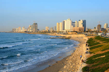 ranked: TEL AVIV - FEBRUARY 22: The Mediterranean coastline February 22, 2012 in Tel Aviv, IL. the city is a top 10 beach city as ranked by National Geographic.