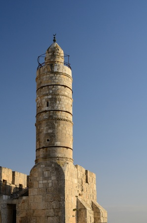 2nd century: Dating from 2nd Century BCE, the Tower of David is so named because Byzantine Christians believed the site to be the palace of King David. The current structure dates from the 1600s. Stock Photo