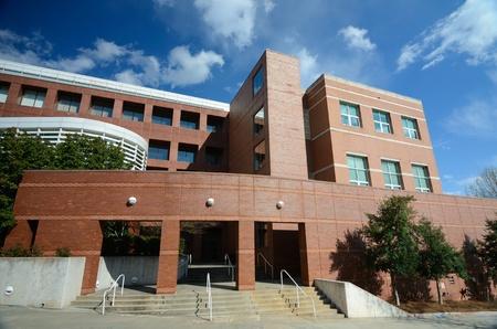 edificio escuela: Detalle de un edificio acad�mico moderno Editorial