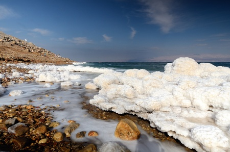 dead sea: Salt formations in the Dead sea of Israel.