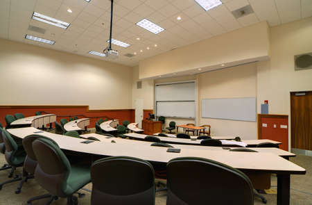 Interior of a college lecture hall