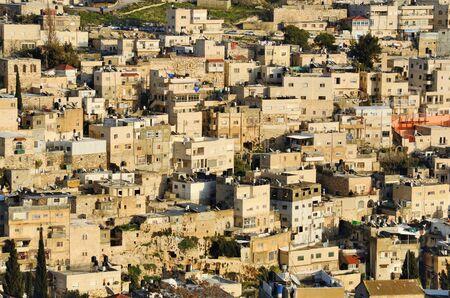 hillside: Arab neighborhood on the hillside of Mount of Olives in Jerusalem, Israel