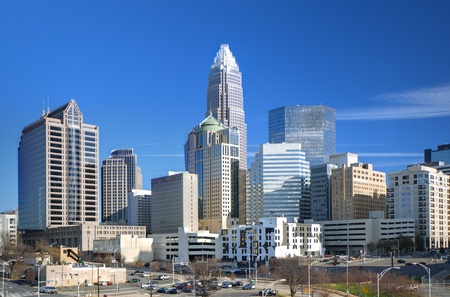 skyline of Uptown, the Financial District of Charlotte, North Carolina. Stock Photo - 12742754