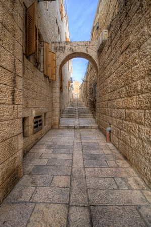Alleyway in the Old City of Jerusalem, Israel. Stock Photo - 12745286