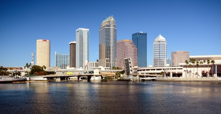 ranked: TAMPA - DECEMBER 28: Skyline of downtown December 28, 2011 in Tampa, FL. In 2008, Tampa was ranked as the 5th best outdoor city by Forbes.