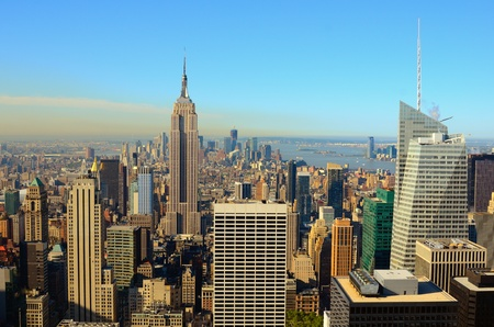 new scenery: Landmark architecture in midtown Manhattan Stock Photo