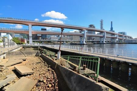 Preserved damage from the 1995 Hanshin Earthquake in Kobe, Japan.