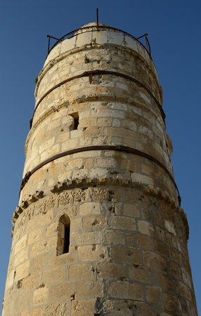 ancient israel: Dating from 2nd Century BCE, the Tower of David is so named because Byzantine Christians believed the site to be the palace of King David. The current structure dates from the 1600s. Stock Photo
