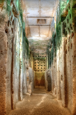 Columbarium Caves at Beit Guvrin, Israel, were used for dove raising in ancient times