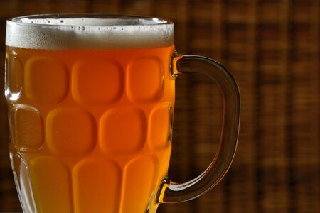 ale: Ale in a glass mug