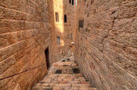 Alleyway in the Old City of Jerusalem, Israel. 版權商用圖片
